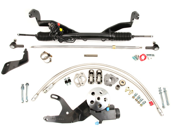 1949-51 Ford Power Rack & Pinion Kit w/o Headers