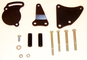 Chevy Small Block Long Water Pump Bracket for GM Type II/TC (Black)