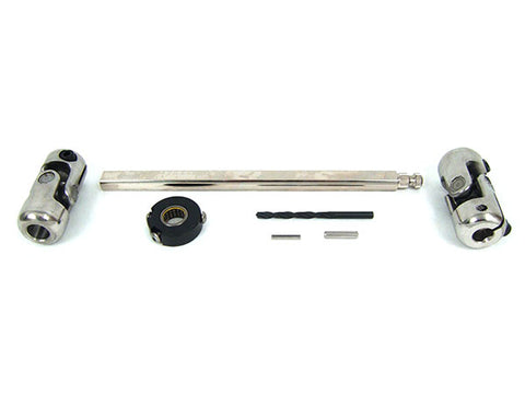 1955-57 Chevy Steering Shaft Kit w/Column Bearing (Stock Column)