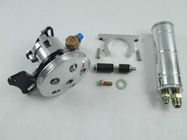 Chevelle Small Block Long Water Pump Kit w/Remote Resevoir (Polished)