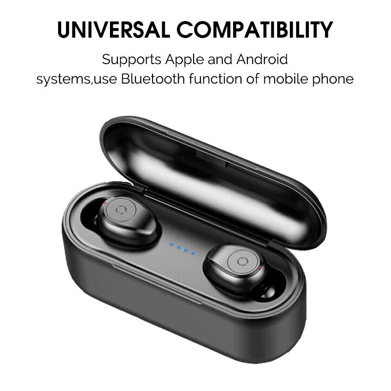 TWS Wireless Bluetooth 5.0 Ear Buds with Charging Box and Dual Microphone for IOS or Android