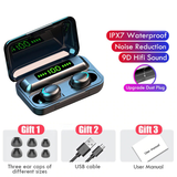 9D Stereo Wireless Earbuds | Bluetooth 5.0 | 2200mAh Charging Box | Waterproof