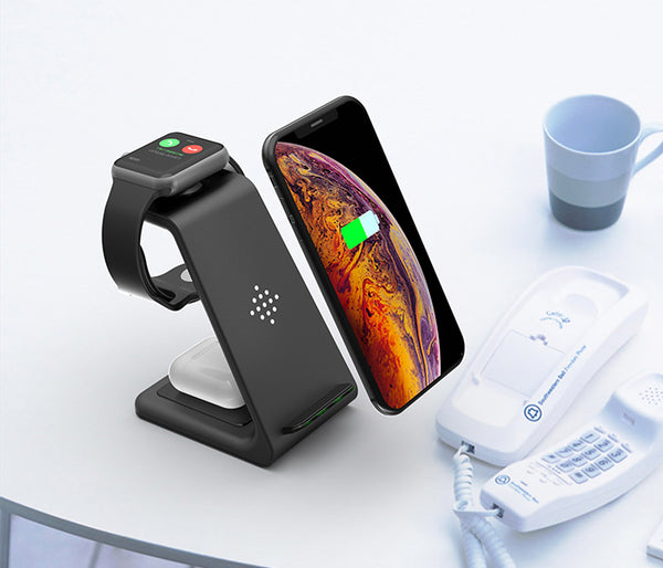 3 in 1 Wireless Charging Stand For iPhone AirPods and Apple Watch