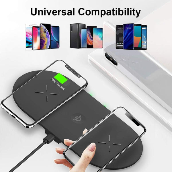 3 in 1 18W Fast Wireless Charging Pad For iPhone Apple Watch AirPods and Qi Enabled Smartphones