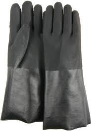 PVC Double Dipped Glove With Sand Finish & Interlock Liner