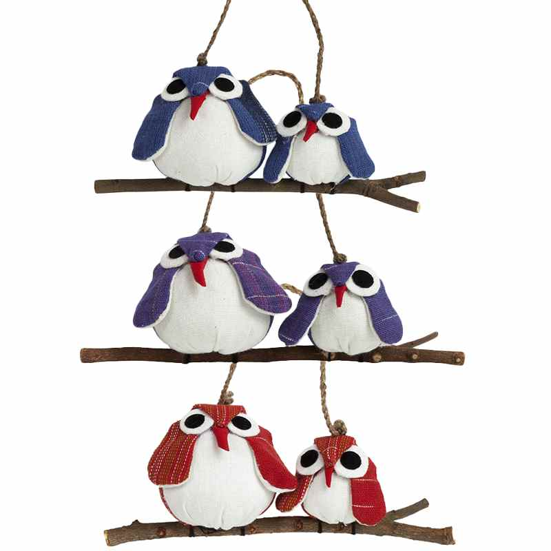 Owl Couple Ornaments - Matching Fabrics