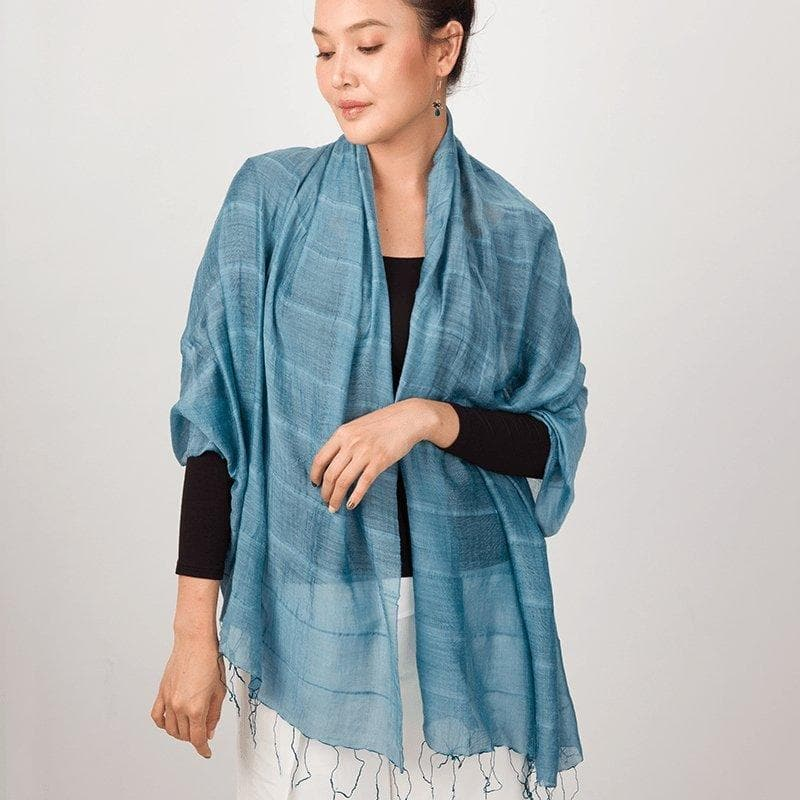 Aire Shawl - A Luxurious Silk and Linen Blend - Marquet Fair Trade