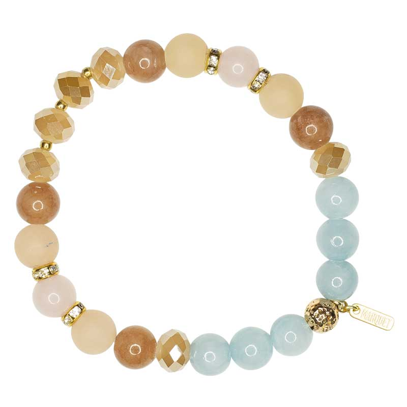 Amy - Stone and Crystal Stretch Bracelets - Marquet Fair Trade