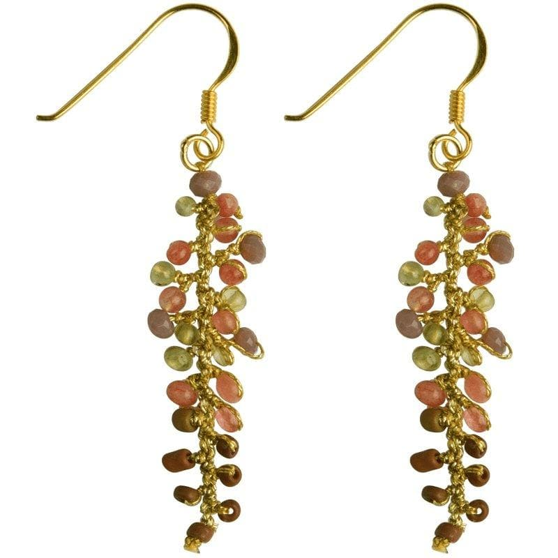 Load image into Gallery viewer, Annie - Glittery Leaf-Shaped Earrings - Marquet Fair Trade