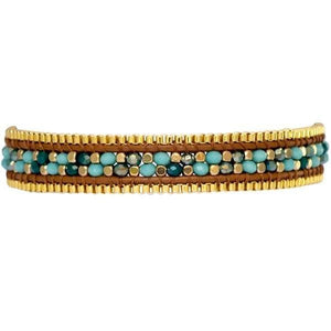 Load image into Gallery viewer, Bethany - Adjustable Beaded Bracelet with Box Chain - Marquet Fair Trade