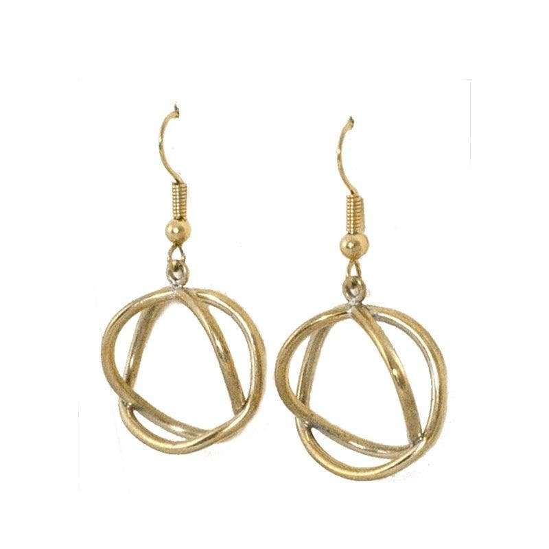 Chaiyo - Minimalist, Geometric Brass Earrings - Marquet Fair Trade