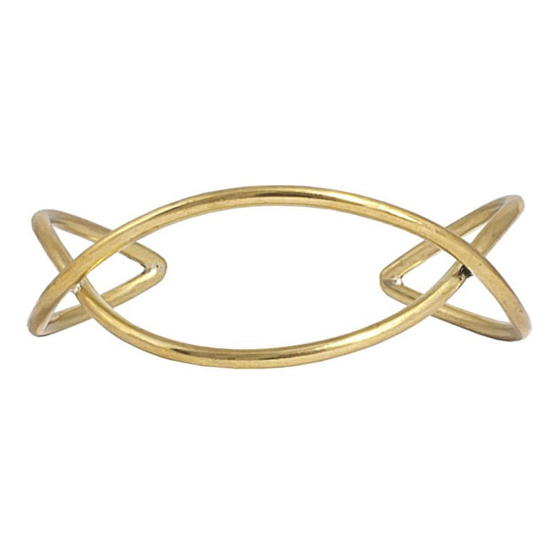 Chaiyo - Modern, Minimalist Brass Bangle - Marquet Fair Trade