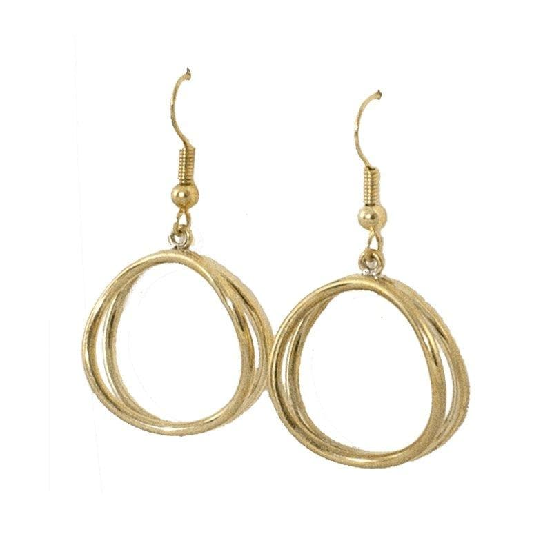 Dao - Small Hoop Brass Earrings - Marquet Fair Trade