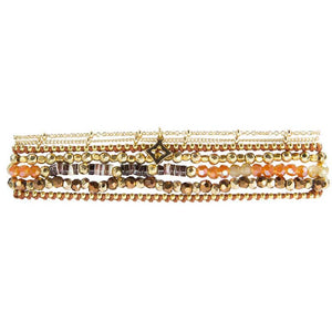 Load image into Gallery viewer, Ellen - Elegant Wrap Bracelet with Charm - Marquet Fair Trade
