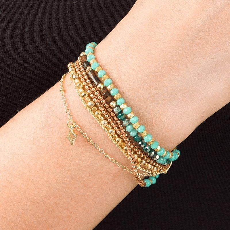 Ellen - Elegant Wrap Bracelet with Charm - Marquet Fair Trade