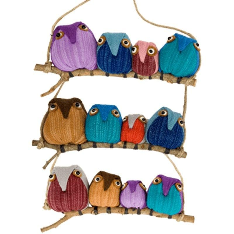Family of Four Owl Ornaments - Marquet Fair Trade