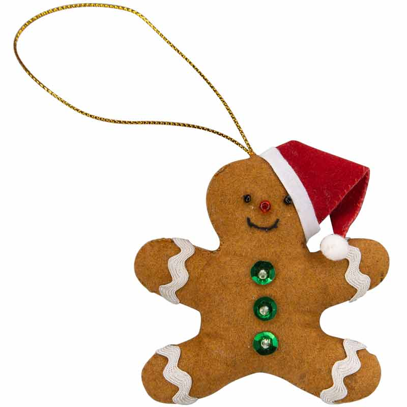 Gingerbread Man Ornament - Marquet Fair Trade