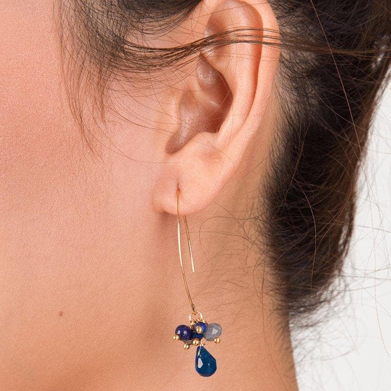 Jen - Clustered Crystal Earrings - Marquet Fair Trade