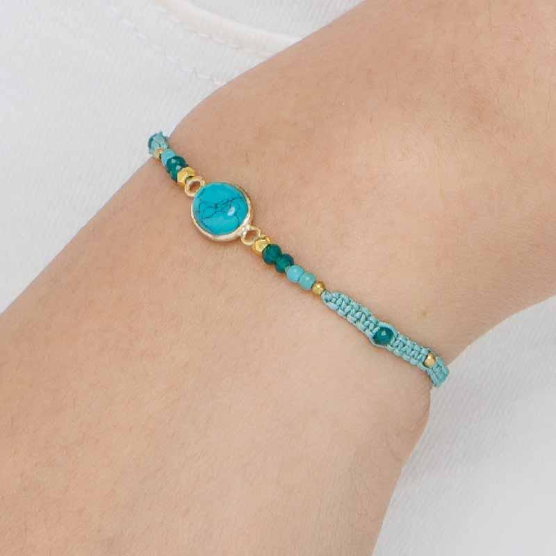 Jess - Sliding Knot Bracelet with Feature Stone - Marquet Fair Trade
