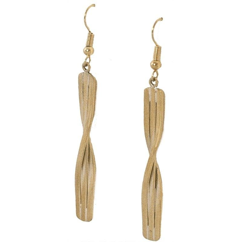Kannika - Minimalist Brass Earrings - Marquet Fair Trade