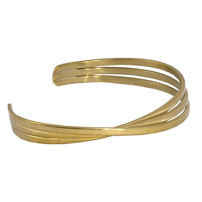 Kannika - Thin Brass Bangle Bracelet - Marquet Fair Trade