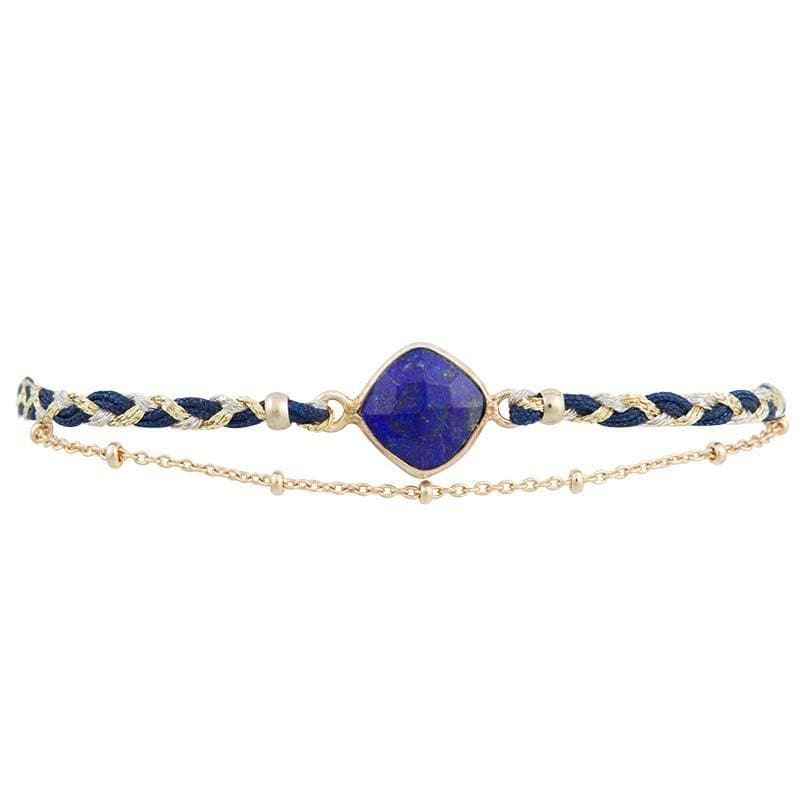 Load image into Gallery viewer, Kelly - Silk Braided Bracelet with Feature Stone - Marquet Fair Trade