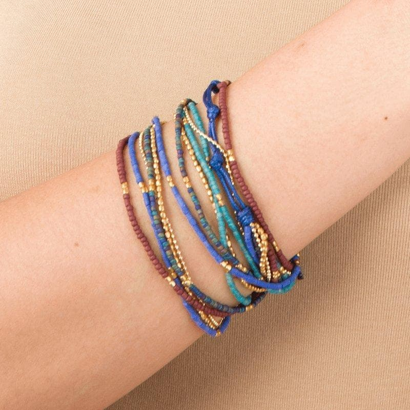 Lauren - Layered Multi-strand Wrap Bracelet - Marquet Fair Trade