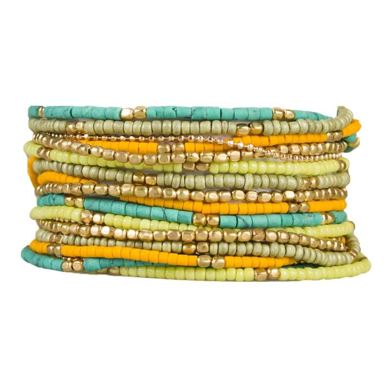 Load image into Gallery viewer, Lauren - Layered Multi-strand Wrap Bracelet - Marquet Fair Trade