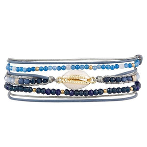 Load image into Gallery viewer, Lex - Unique Wrap Bracelet with Seashell - Marquet Fair Trade