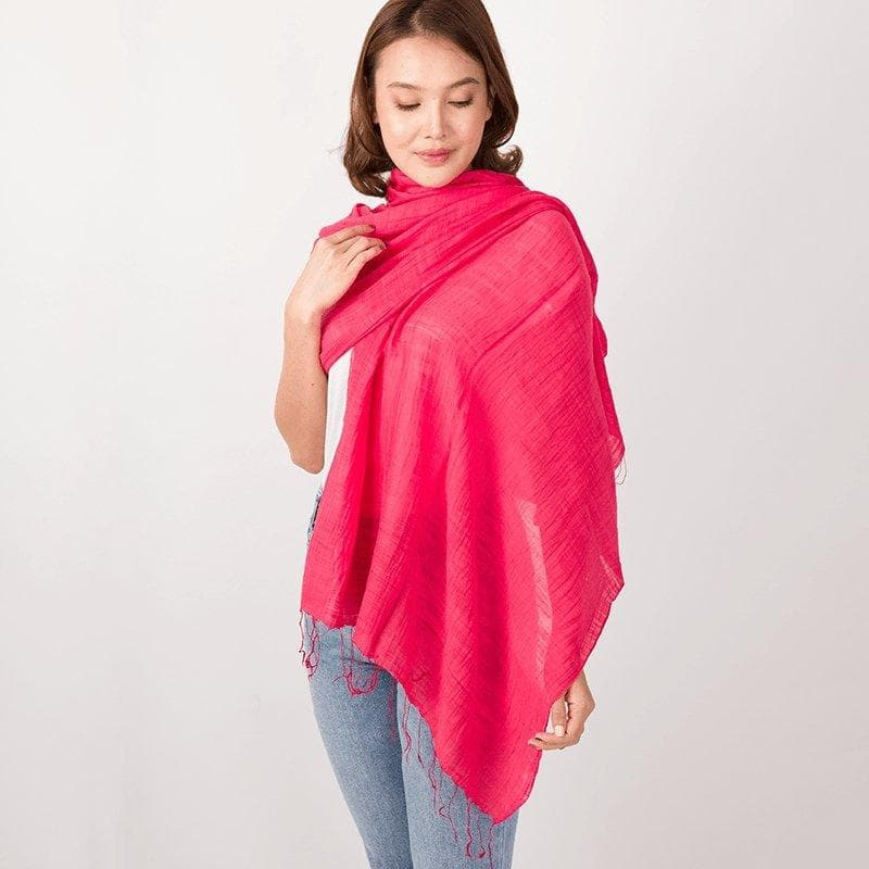 Lightweight Cotton and Silk Shawl - Marquet Fair Trade