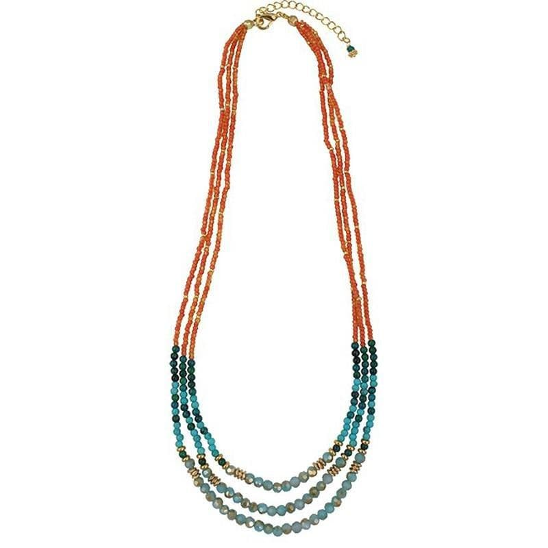 Load image into Gallery viewer, Maia - Multistrand Layered Necklace - Marquet Fair Trade