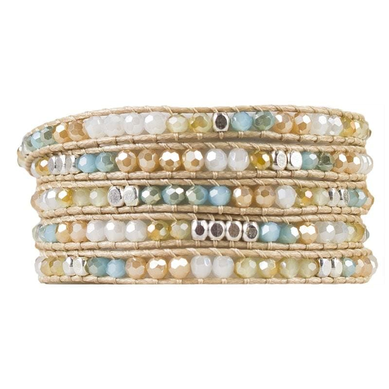 Miri - Extra Long Crystal and Stone Wrap Bracelet - Marquet Fair Trade