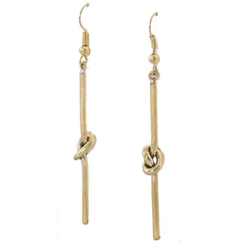Naak - Handmade Polished Brass Earrings - Marquet Fair Trade