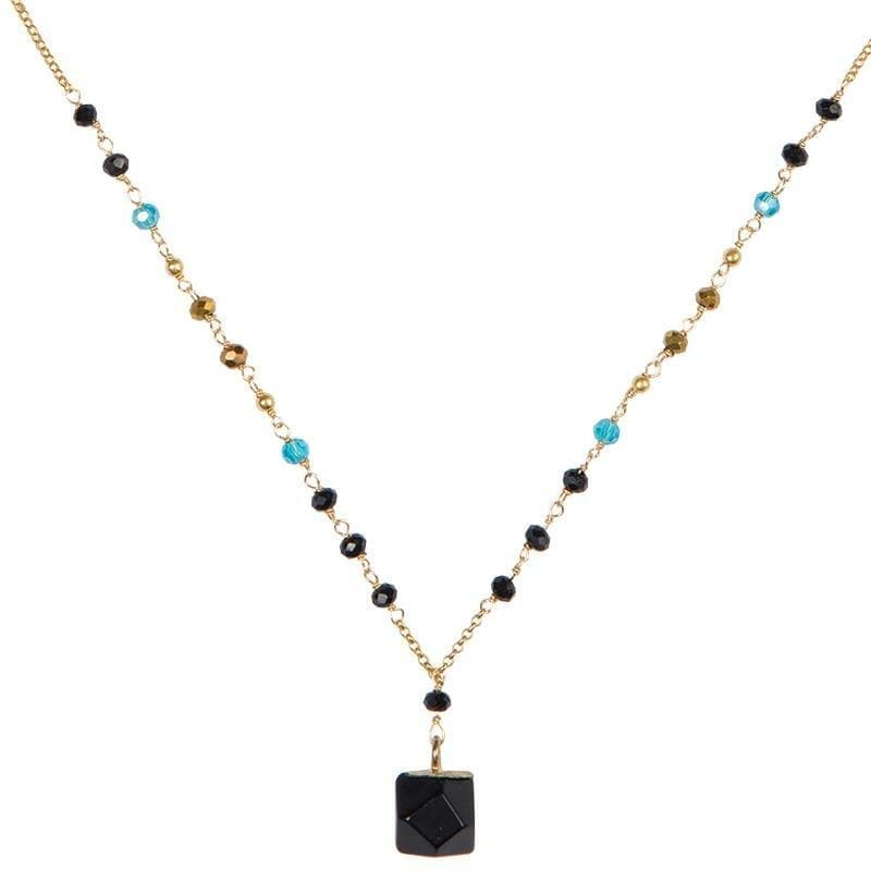 Load image into Gallery viewer, Nicki - Geometric Stone Pendant Necklace - Marquet Fair Trade
