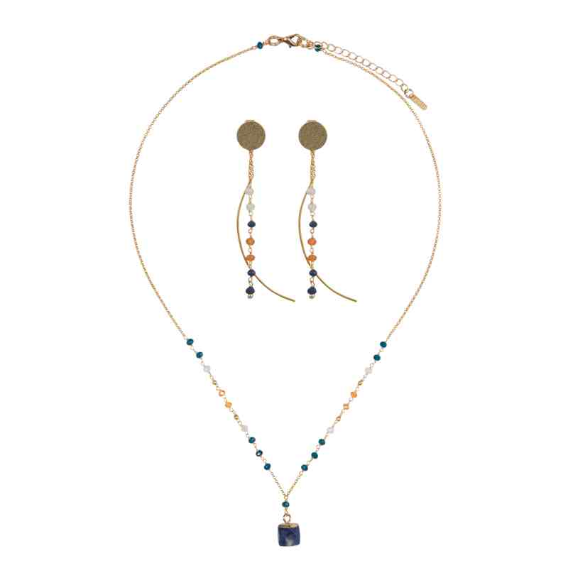 Load image into Gallery viewer, Nicki Necklace and Earring Set - Marquet Fair Trade