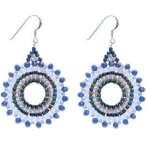 Load image into Gallery viewer, Olivia - Sparkling Burst of Beads Earrings - Marquet Fair Trade