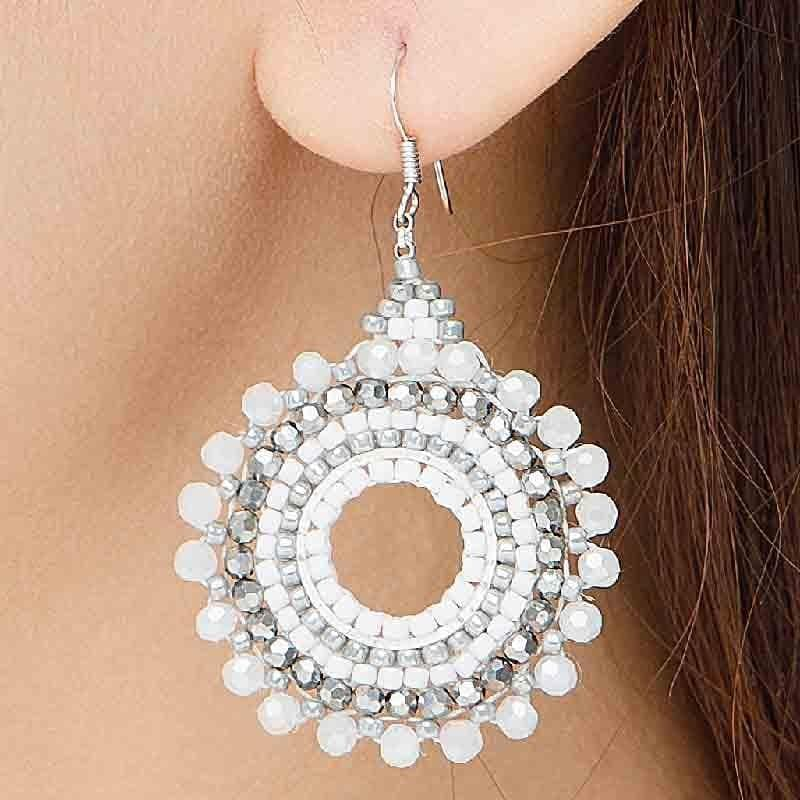 Olivia - Sparkling Burst of Beads Earrings - Marquet Fair Trade