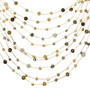 Load image into Gallery viewer, Reena - Handmade Silk and Stone Floating Necklace - Marquet Fair Trade