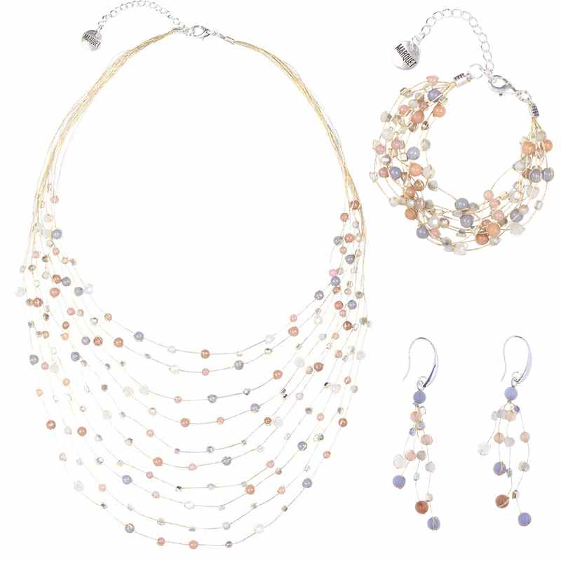 Load image into Gallery viewer, Reena Necklace, Bracelet, and Earring Set - Marquet Fair Trade