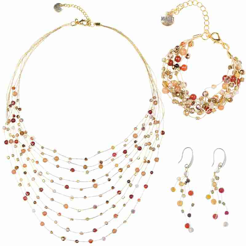 Reena Necklace, Bracelet, and Earring Set - Marquet Fair Trade