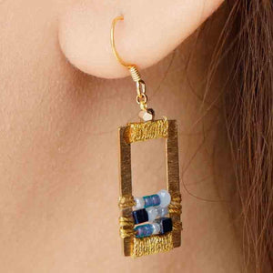 Load image into Gallery viewer, Rose - Draped Geometric Earrings - Marquet Fair Trade