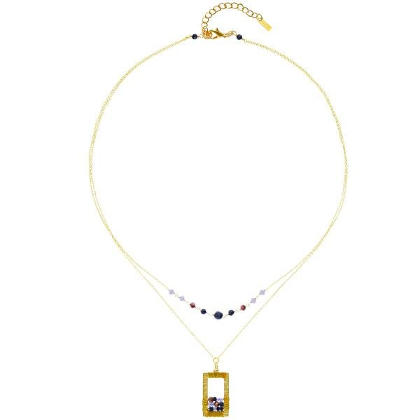 Load image into Gallery viewer, Rose - Draped Geometric Necklaces - Marquet Fair Trade