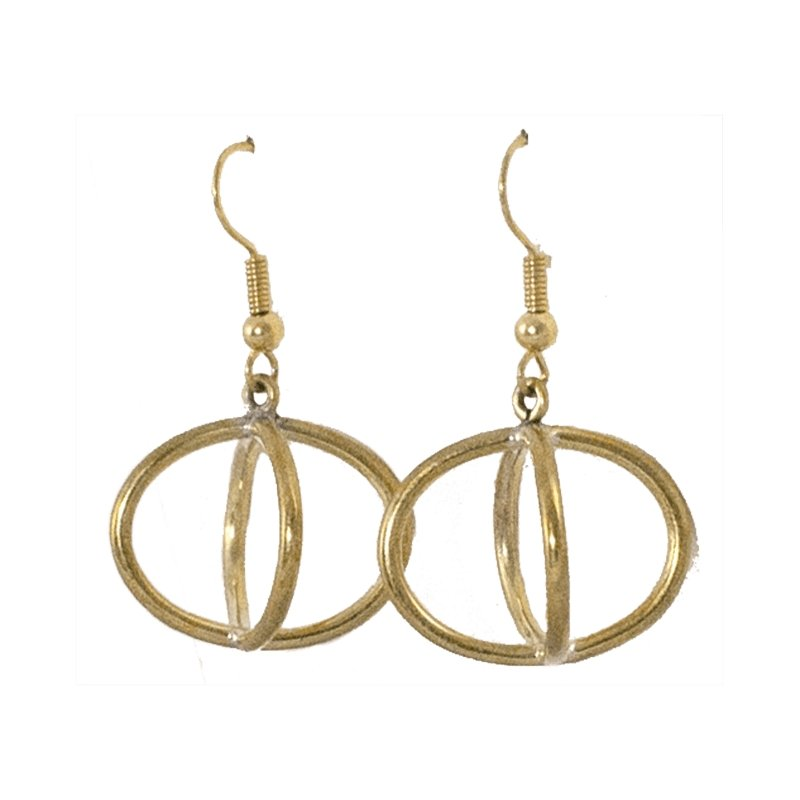 Sanoon - Spherical Brass Earrings - Marquet Fair Trade