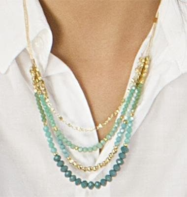 Sharon - Crystal Layered Necklace - Marquet Fair Trade