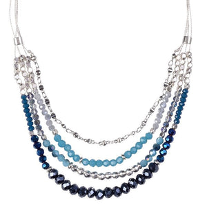 Load image into Gallery viewer, Sharon - Crystal Layered Necklace - Marquet Fair Trade