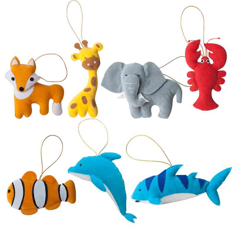 Zoo and Aquarium Ornament Set - Marquet Fair Trade