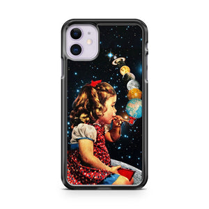 Airship Astronaut Stars Moon Night iPhone 11 Case Cover | Overkill Inc.