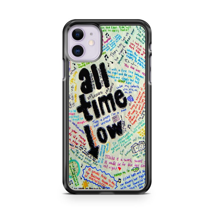 Alex Gaskarth All Time Low Rock Quote iPhone 11 Case Cover | Overkill Inc.