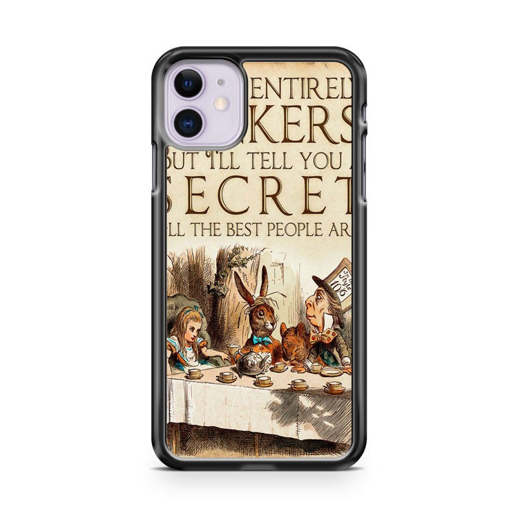 Alice In Wonderland Bonkers Vintage Drawing iPhone 11 Case Cover | Overkill Inc.