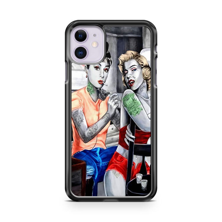 Audrey Hepburn Marilyn Monroe iPhone 11 Case Cover | Overkill Inc.
